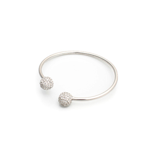 Sleek silver metal bangle